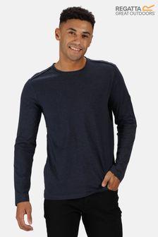 Regatta Blue Karter II Long Sleeve T-Shirt