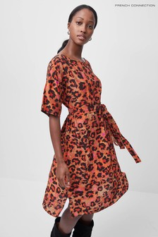French Connection Pink Bernadia Crepe Dress
