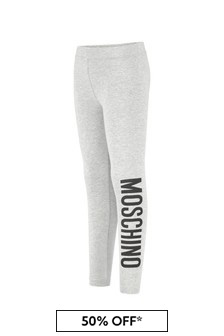 Girls Grey Cotton Leggings