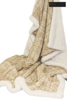 Metallic Faux Fleece Throw by Riva Home