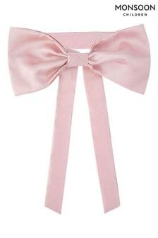 Monsoon Pink Bridesmaid Duchess Twill Bow and Sash