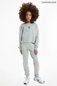 Calvin Klein Jeans Grey Logo Boxy Sweatshirt