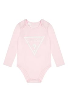 Guess Baby Girls Pink Cotton Bodysuit