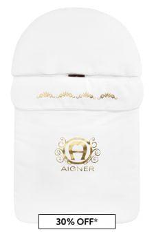Aigner Baby White Cotton Sleep Bag