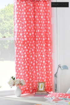 Vintage Circus Star Pencil Pleat Curtains by Riva Home