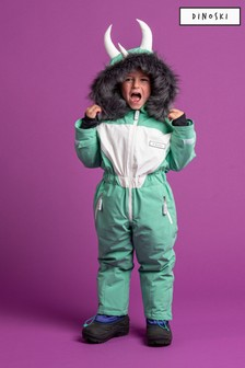 Dinoski Green Spike Dinosaur Ski Suit