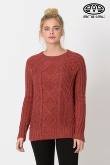 Animal Sun Dried Tomato Red Errie Cable Knit Jumper