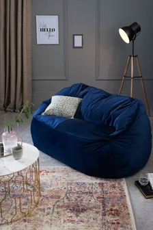 Opulent Velvet Bean Bag Sofa
