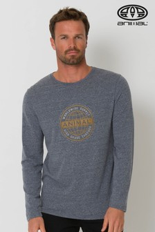 Animal Blue Demand Long Sleeve Graphic T-Shirt