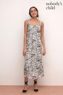 Nobodys Child Zebra Print Mathilda Maxi Dress