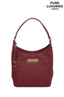 Pure Luxuries London Pomegranate Abigail Leather Shoulder Bag