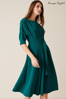 Phase Eight Green Cleo Tie Waist Dress