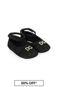 Dolce & Gabbana Baby Girls Black Leather Pumps