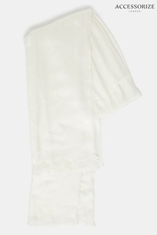 Accessorize Cream Plain Woven Stole Scarf