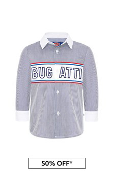 Bugatti Boys Blue Cotton Shirt
