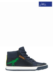 Joules Blue Junior Runaround High Top Trainers