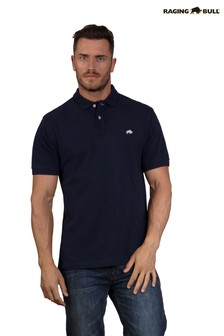Raging Bull Navy New Signature Polo