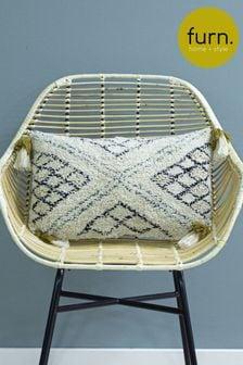 Furn Green Atlas Tassel Cushion