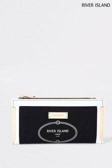 River Island Black Resort Metal Corner Bag