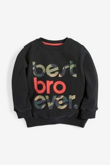 Best Bro Ever Crew Top (3mths-7yrs)
