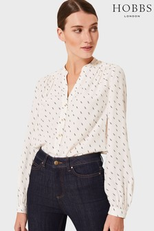 Hobbs White Kimmy Shirt