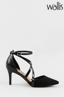 Wallis Carrie Black Double Asymmetric Strap Courts