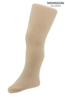 Monsoon Children Gold Baby Sparkly Nylon Tights