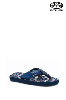 Animal Blue Swish Glitz Flip Flops