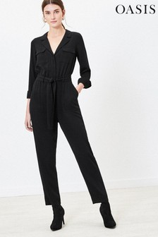 Oasis Black Denim Boilersuit