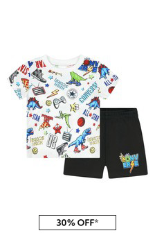 Converse Baby Boys Black Cotton Outfit