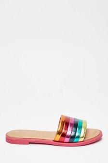 Stripe Slip-On Sandals (Older)