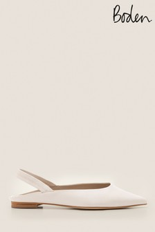 Boden Cream Hannah Slingback Shoes