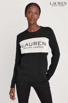 Lauren Ralph Lauren® Black Logo Bozcia Jumper