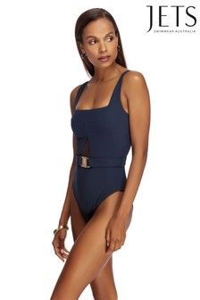 Jets Navy Conspire Square Neck Swimsuit