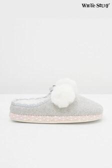 White Stuff Tweed Mule Slippers