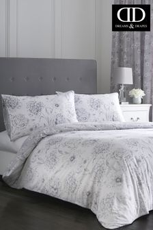 Freya Peony Print Duvet Cover and Pillowcase Set by D&D