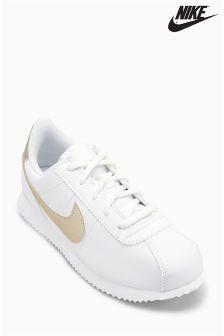 Nike White/Gold Cortez