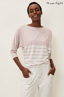 Phase Eight Pink Shelly Striped Top