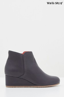 White Stuff Navy Issy Wedge Ankle Boots