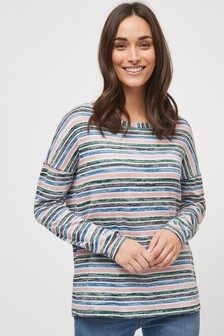 Knit Look Long Sleeve Top