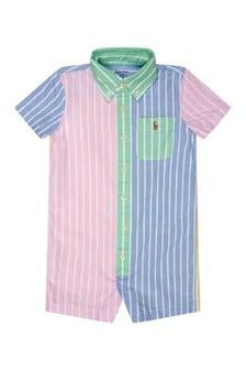 Ralph Lauren Kids Baby Boys Multi Cotton Romper