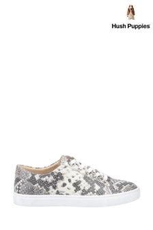 Hush Puppies Grey Tessa Lace Shoes