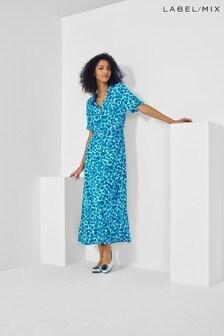 Mix/Fabienne Blue Chapot Mia Dress