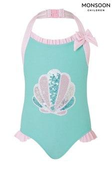 Monsoon Sequin Shell Halter Swimsuit