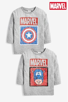 Captain America Flippy Sequin T-Shirt (9mths-8yrs)