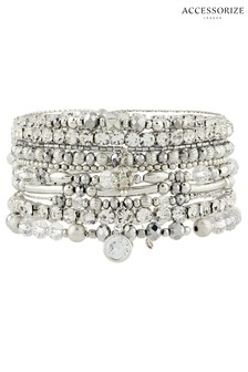Accessorize Clear Glamazon Luxe Stretch Bracelet Pack