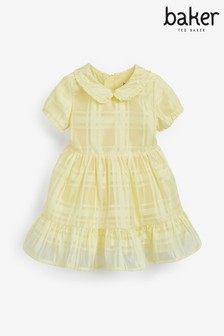Baker by Ted Baker Yellow Check Dress
