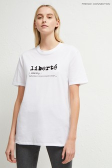 French Connection White Liberte Tee