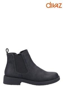 Divaz Black Aria Chelsea Boots