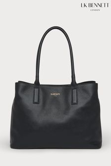 L.K.Bennett Black Lillian Leather Tote Bag